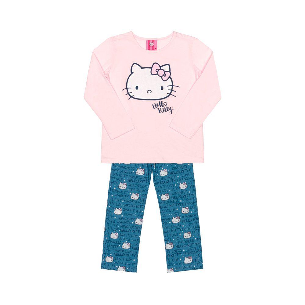 Pijama Hello Kitty Rosa e Azul
