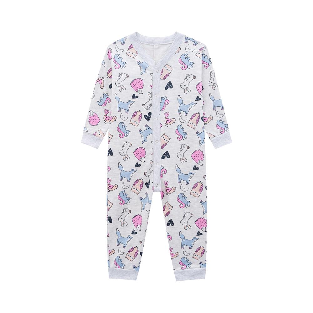 Pijama Macacão Bichos Mescla
