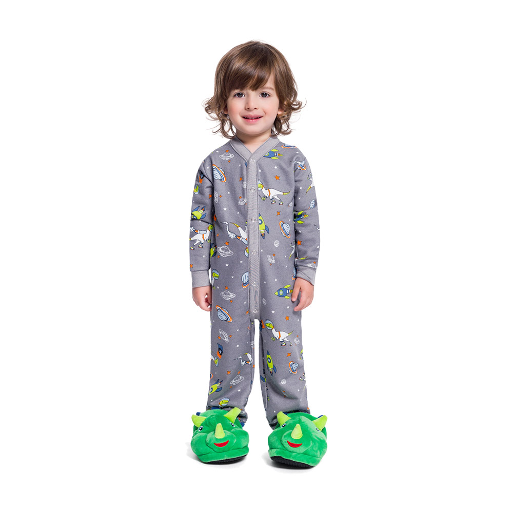 Pijama Macacão Space Cinza