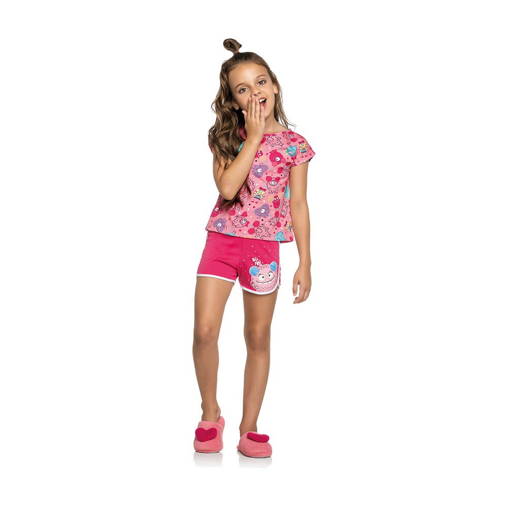 Pijama Monstrinho Kids - Brilha no escuro