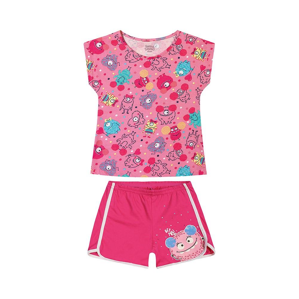 Pijama Monstrinho Kids - Brilha no escuro