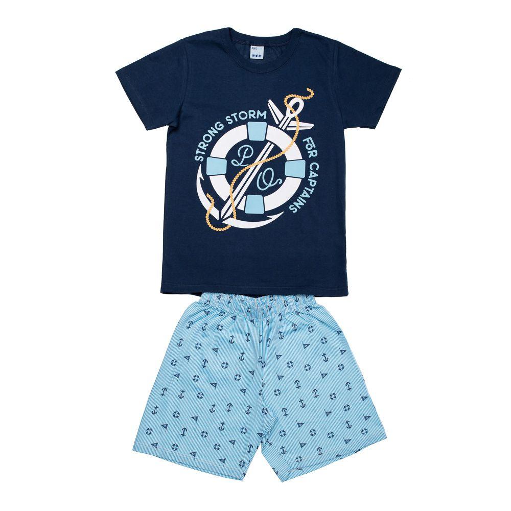 Pijama Náutico Azul