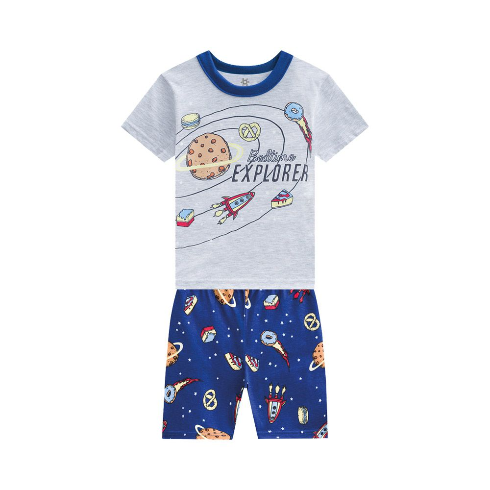 Pijama Planetas Brilha no Escuro