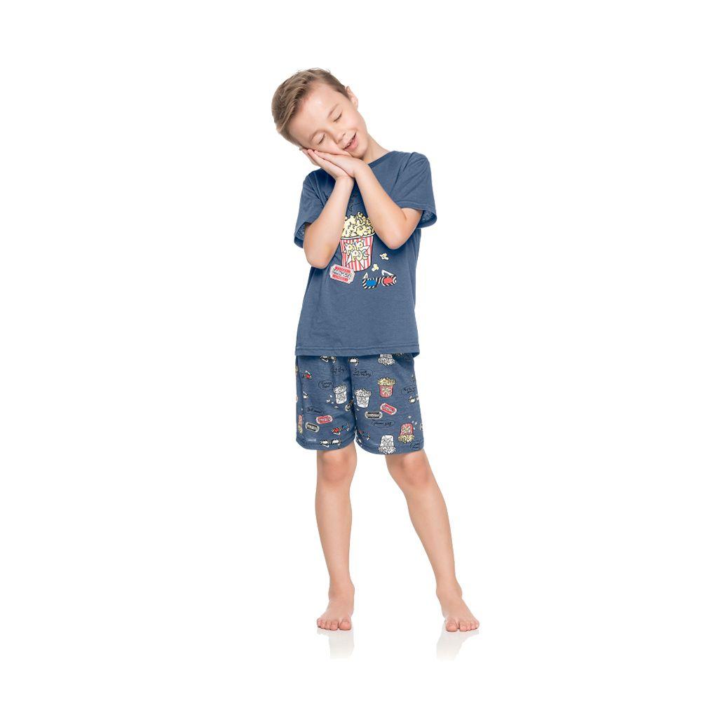 Pijama Pop Corn Azul
