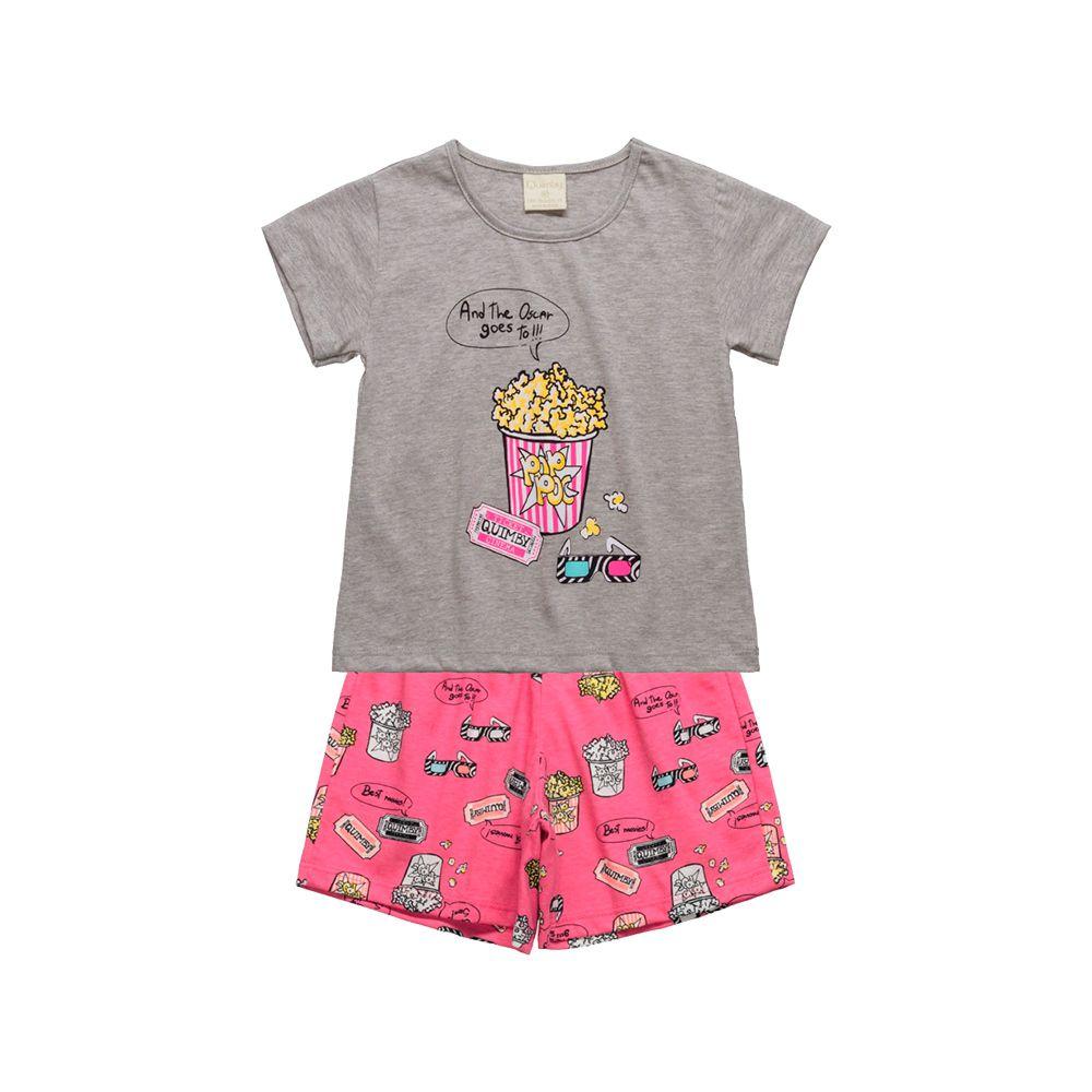 Pijama Pop Corn Rosa