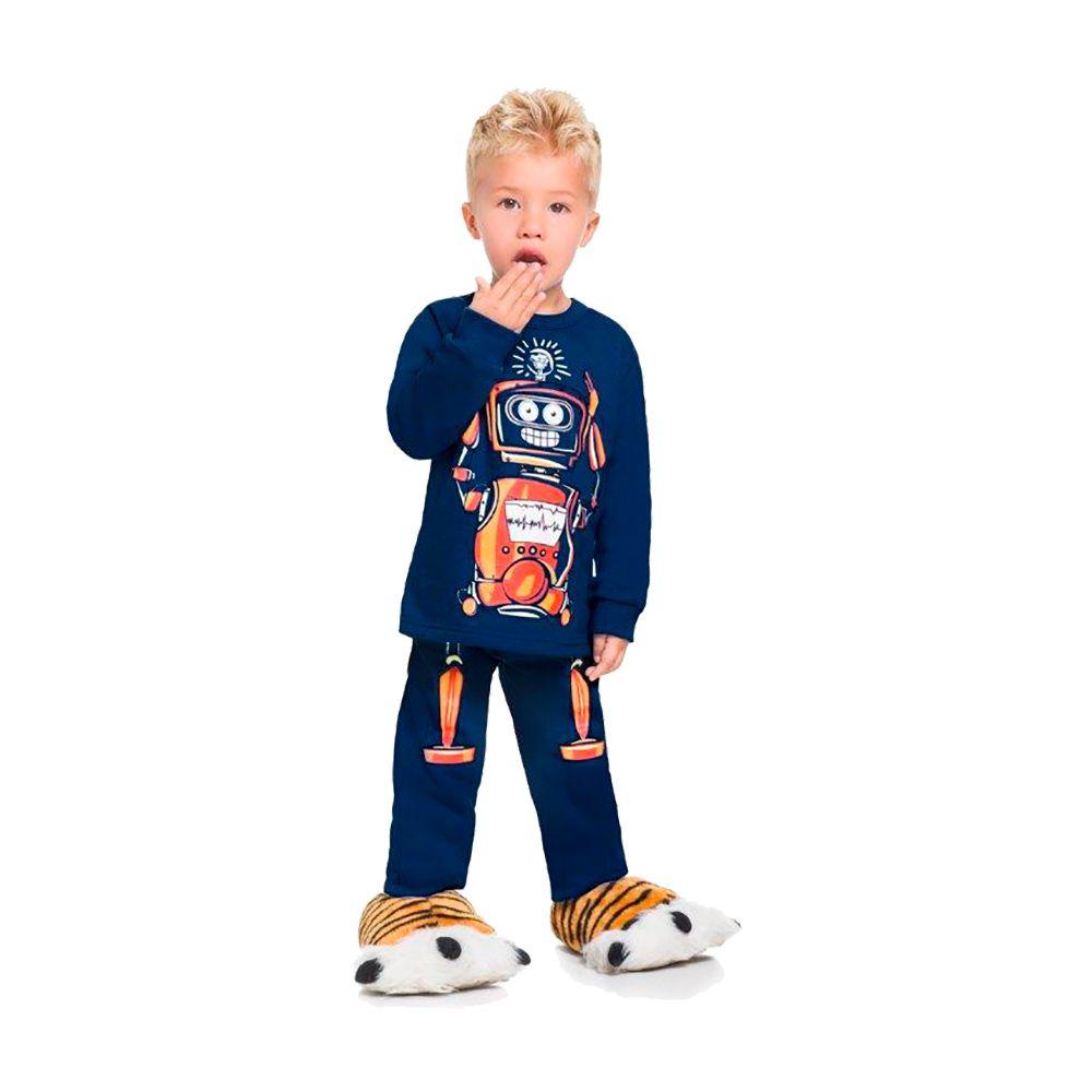 Pijama Robô- Brilha no escuro