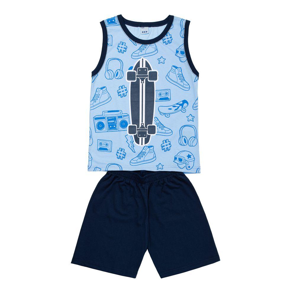Pijama Skate Azul