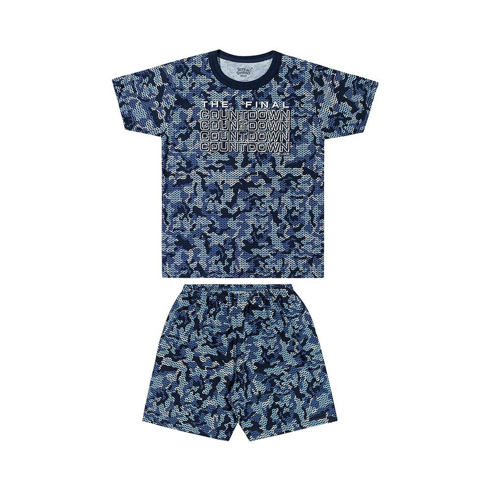 Pijama The Final Azul - Brilha no escuro