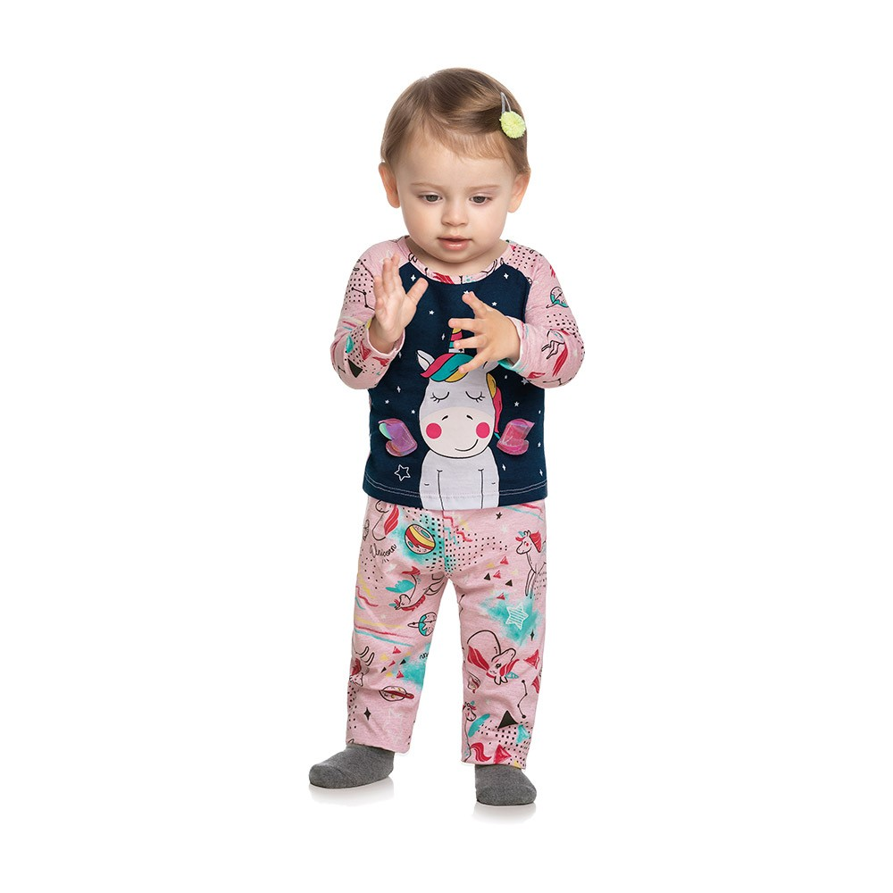 Pijama Unicórnio Baby - Brilha no escuro