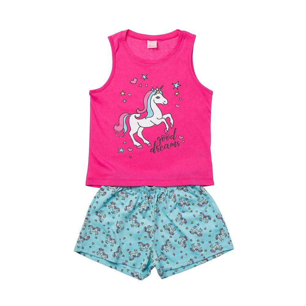 Pijama Unicórnio Regata Pink