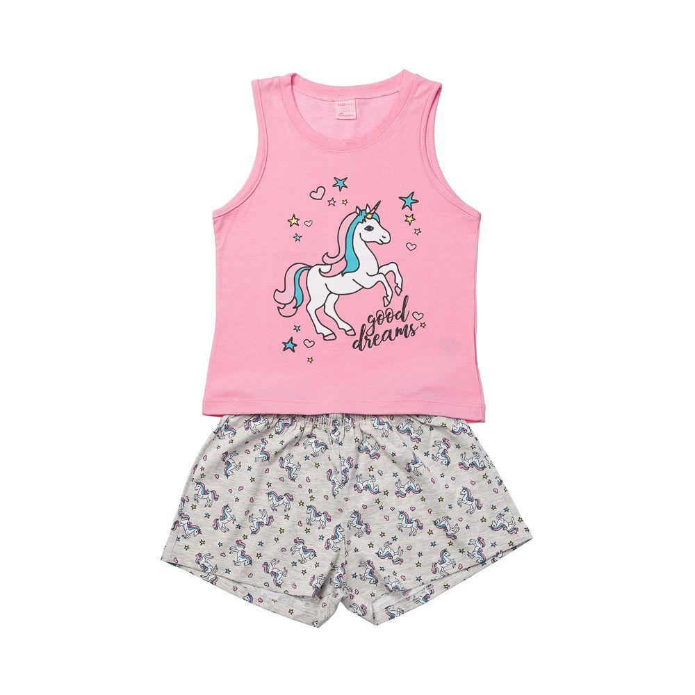Pijama Unicórnio Regata Rosa