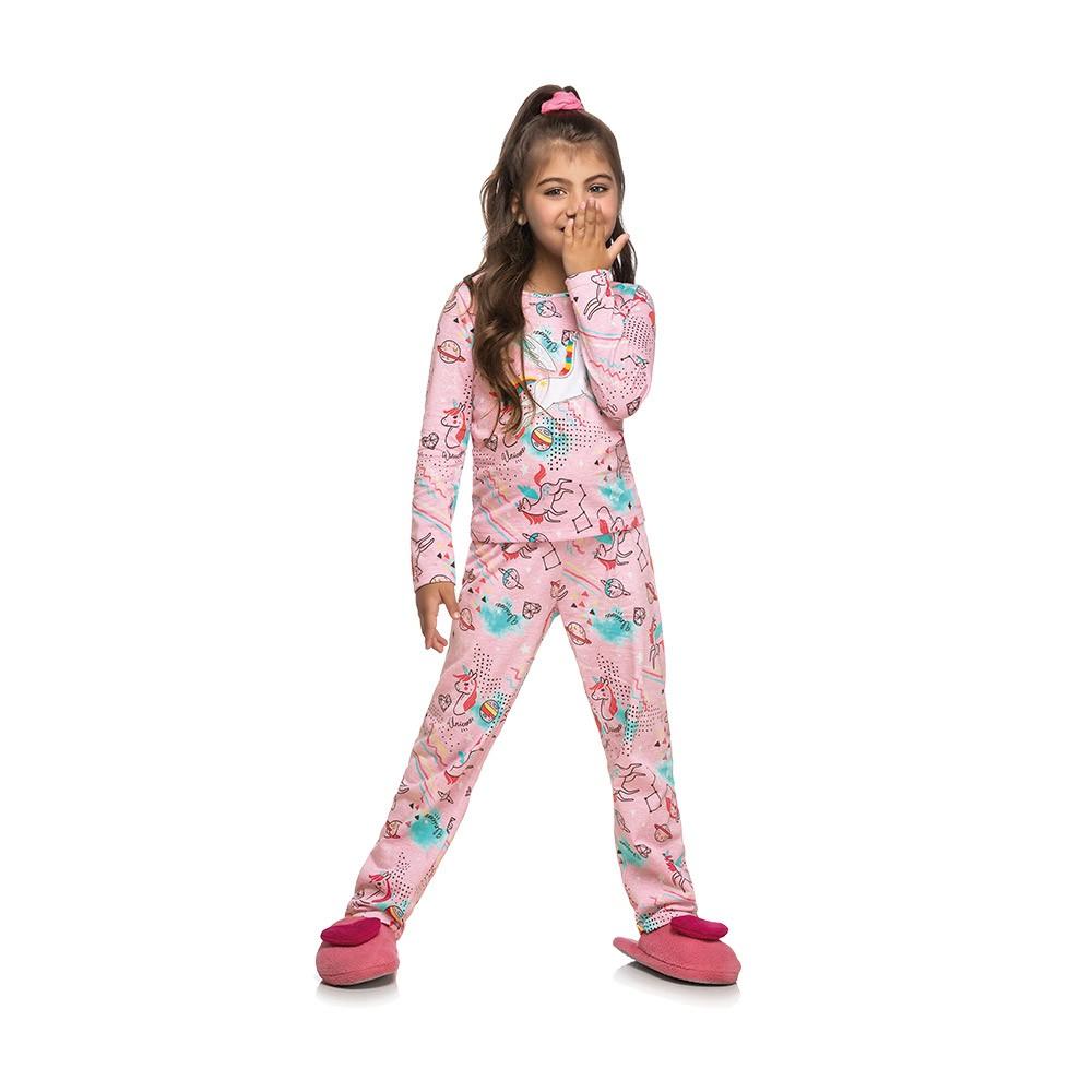 Pijama Unicórnio Rosa - Brilha no escuro