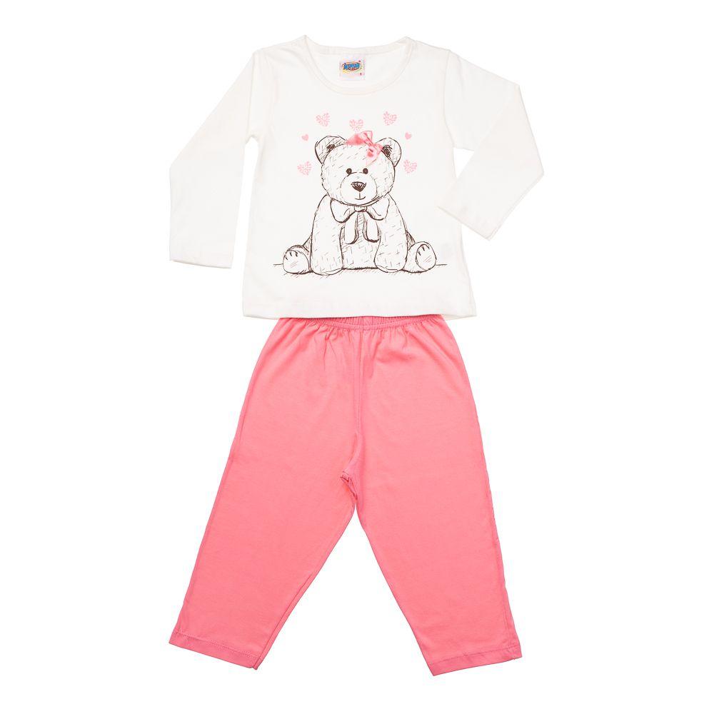 Pijama Ursinha Creme