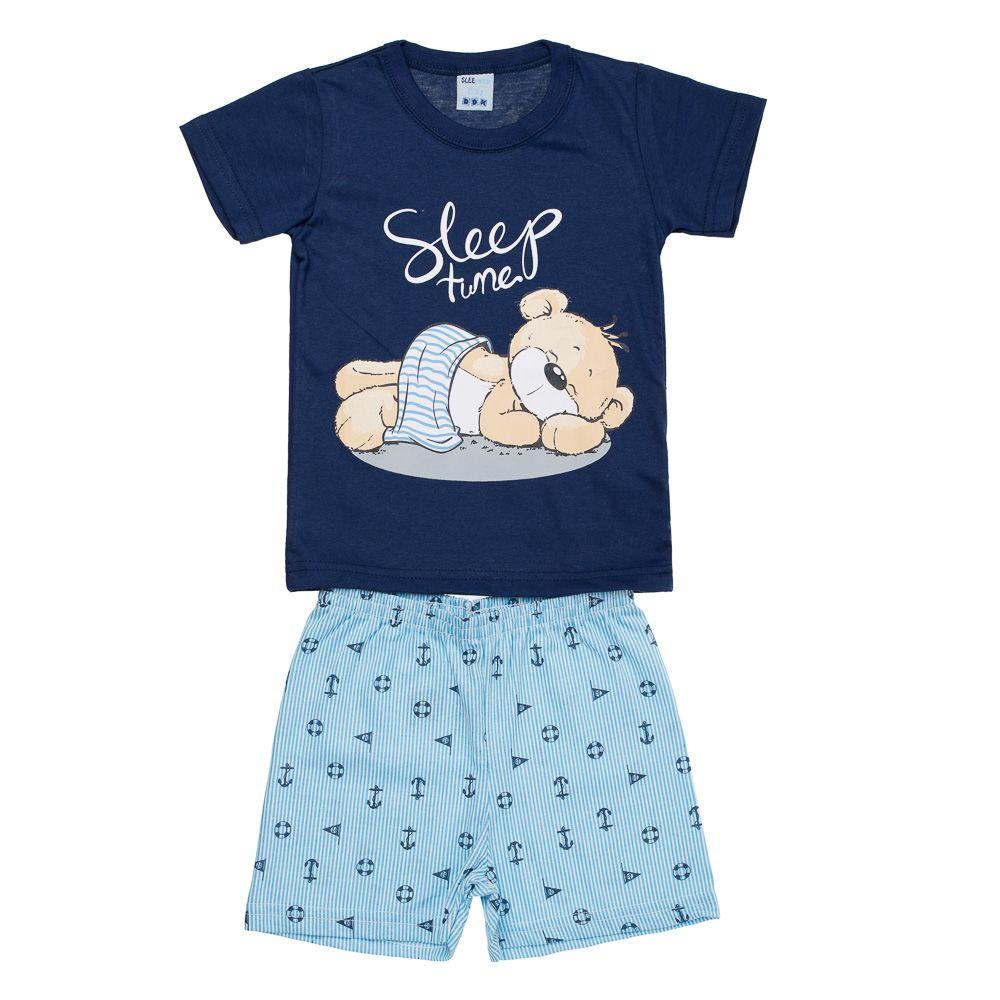 Pijama Urso Soneca Marinho