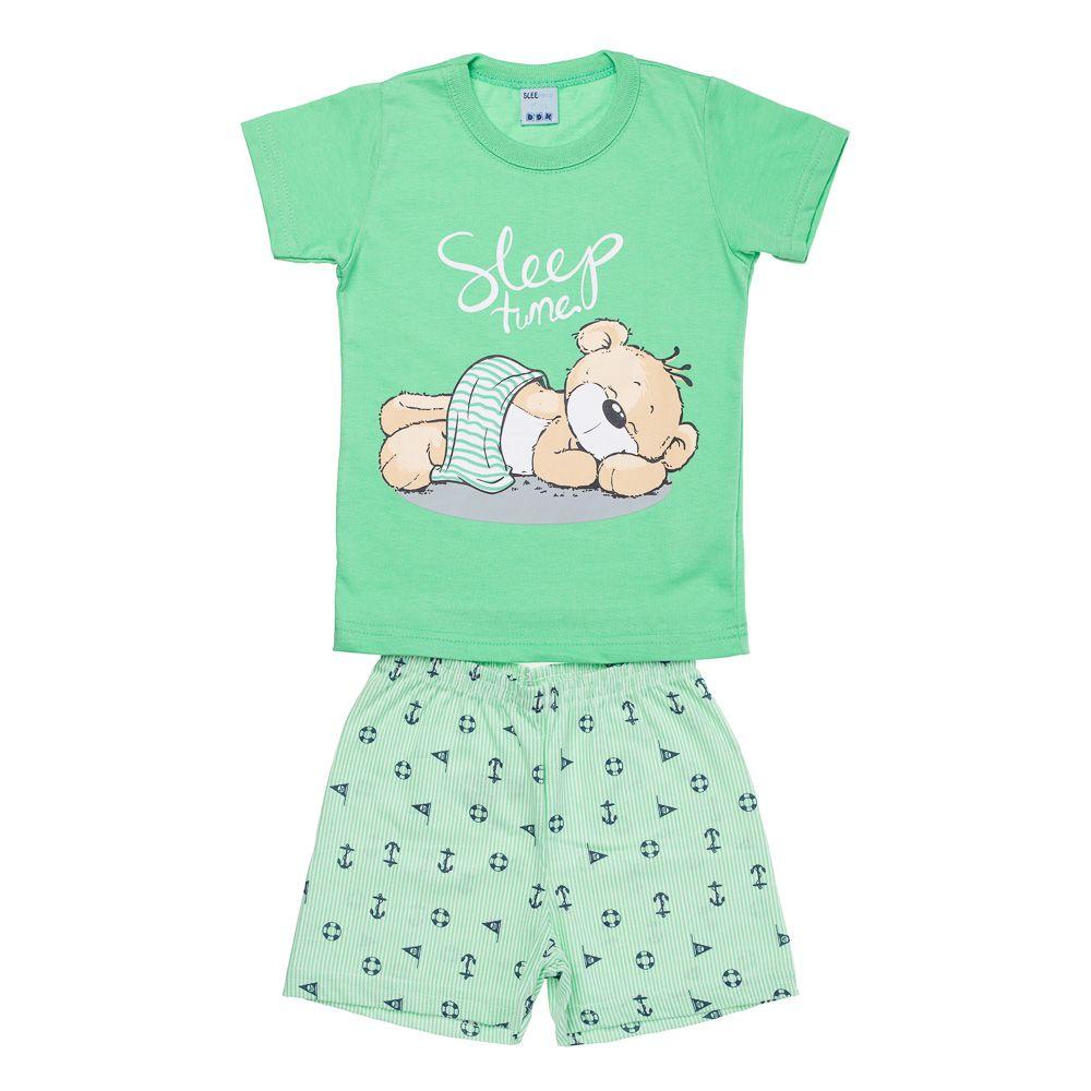 Pijama Urso Soneca Verde