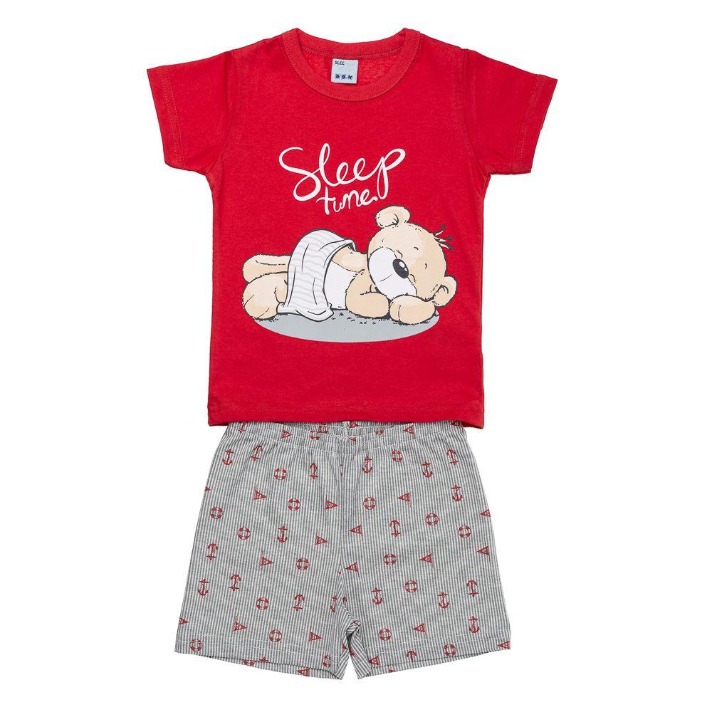 Pijama Urso Soneca Vermelho