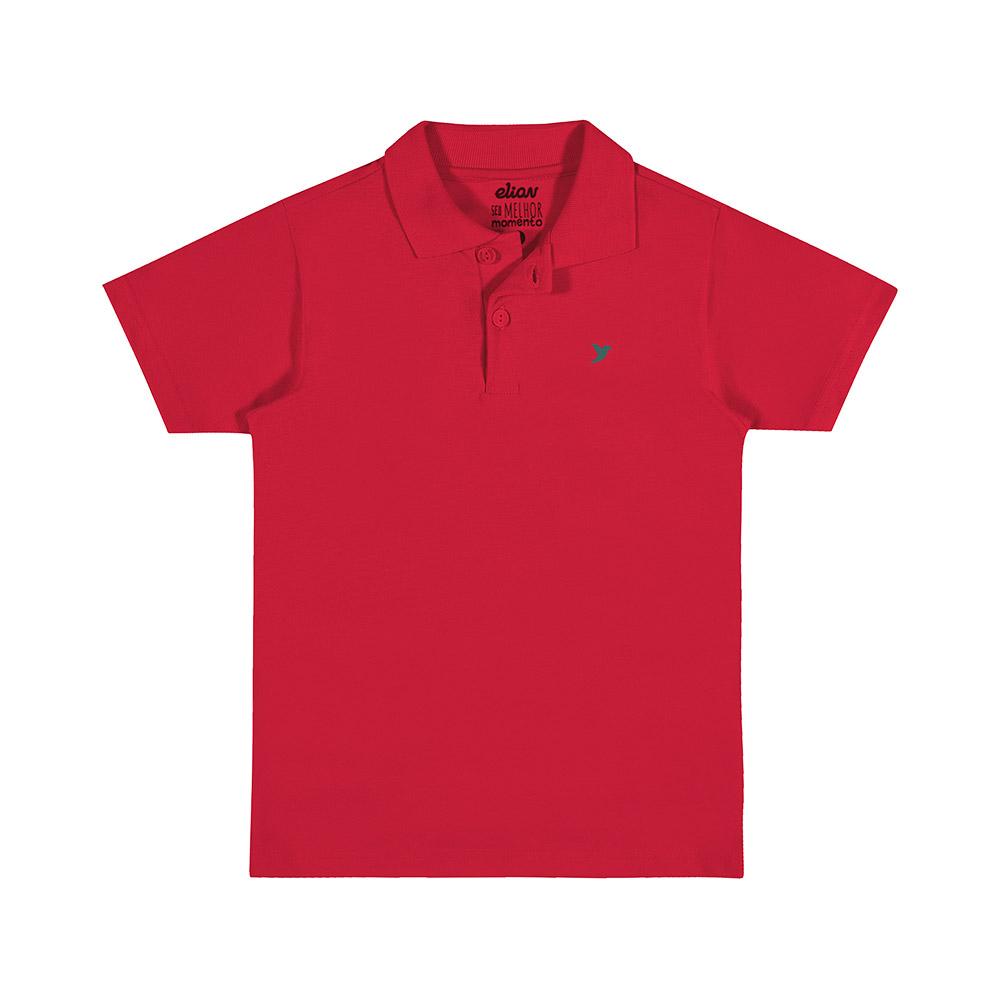Pólo Masculina Vermelha