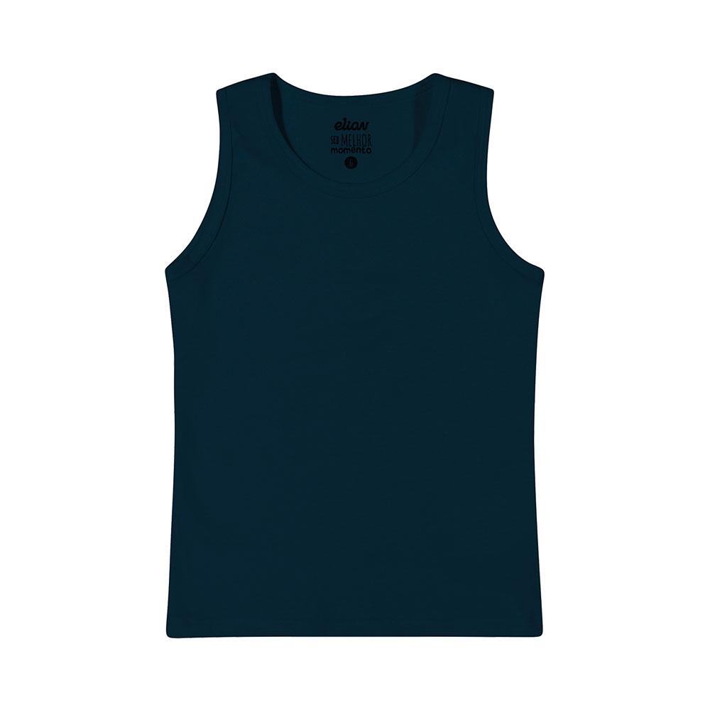 Regata em Cotton Azul Marinho