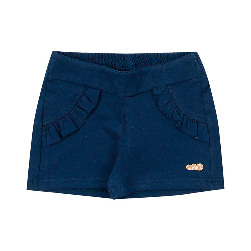 Shorts Babados Marinho