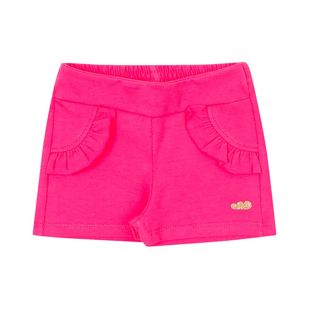 Shorts Babados Rosa