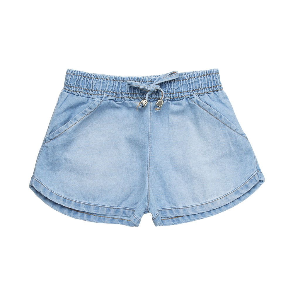 Shorts Chambray  Jeans Claro