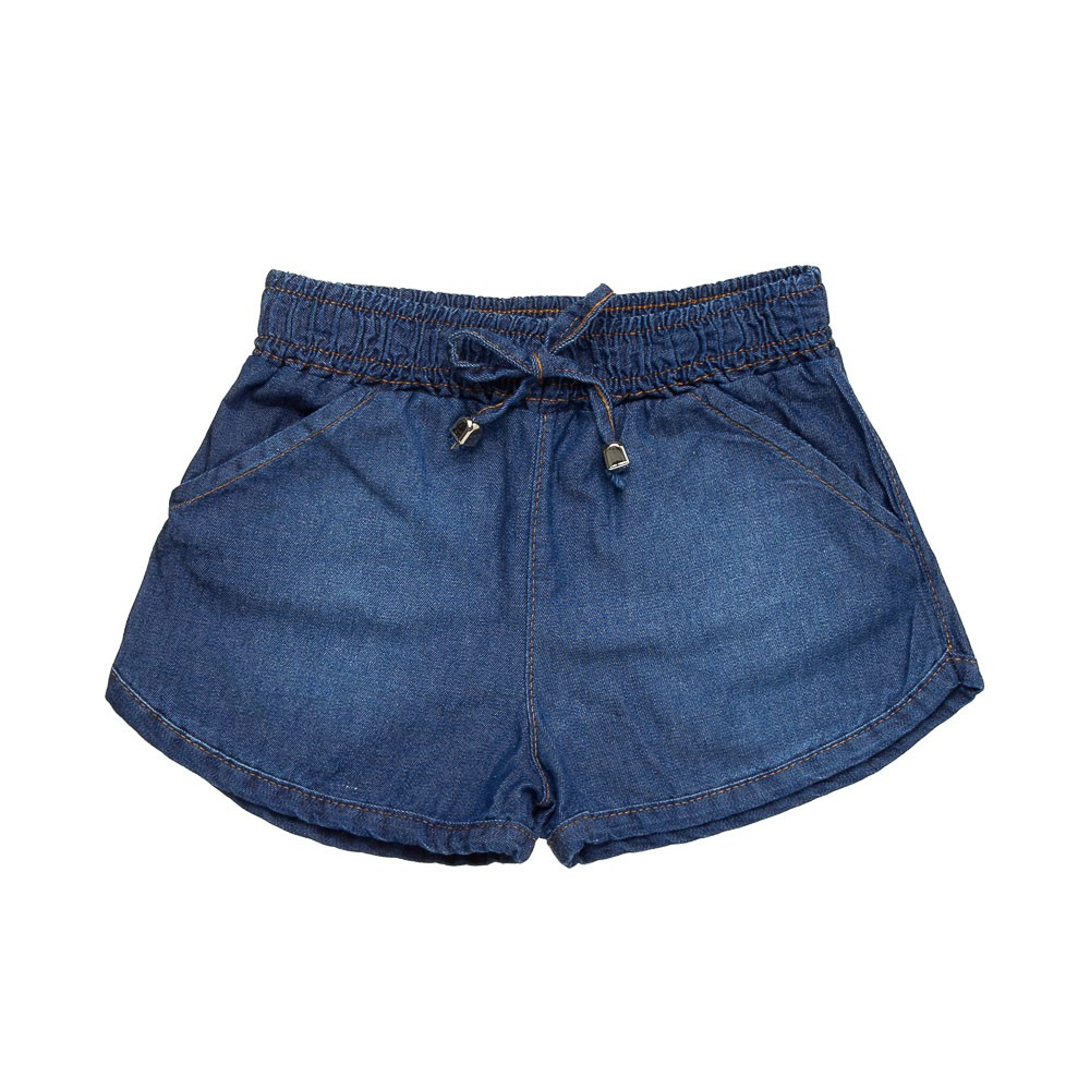 Shorts Chambray  Jeans Escuro