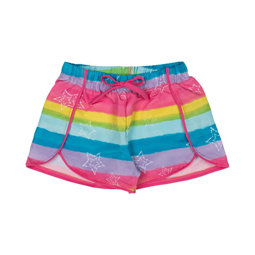 Shorts de Praia em Microfibra Arco Íris