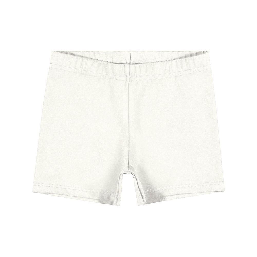 Shorts em Cotton Creme