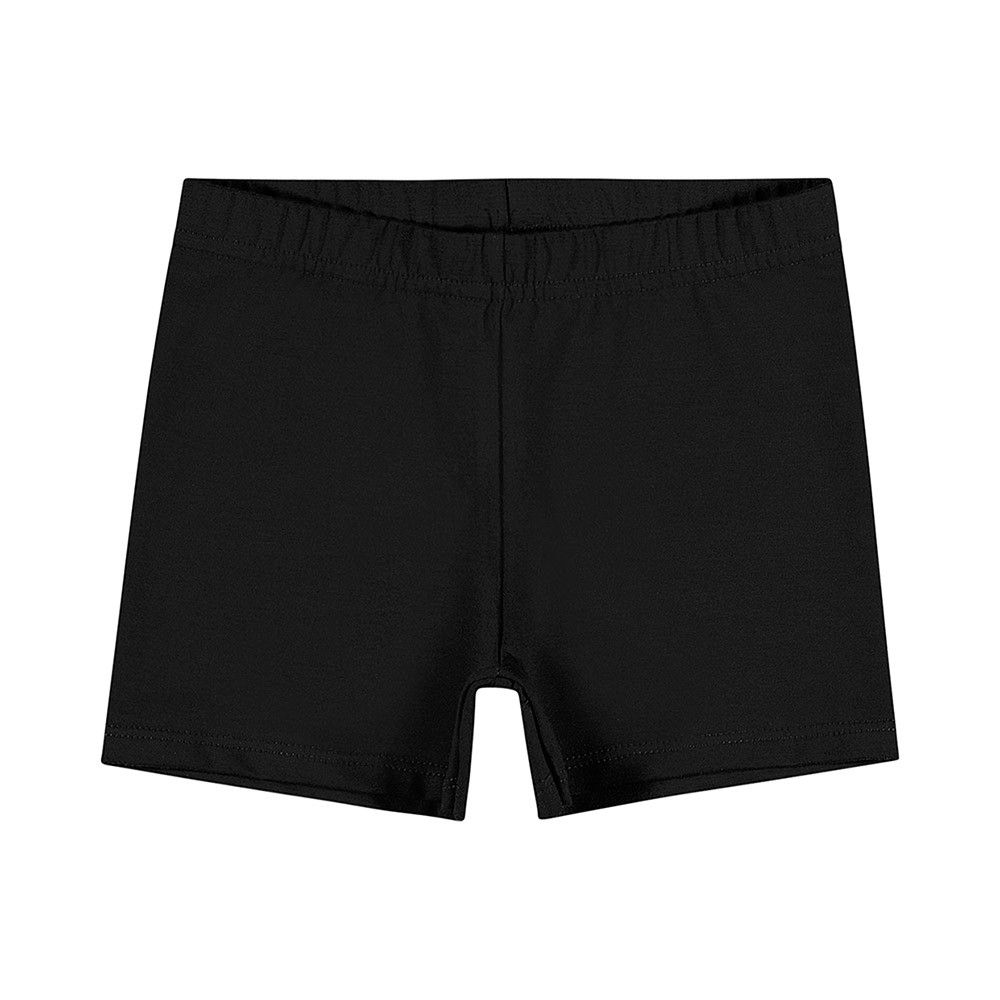 Shorts em Cotton Preto