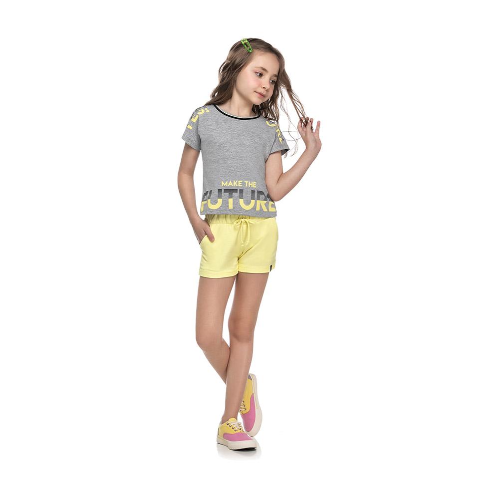 Shorts em Moletinho Amarelo
