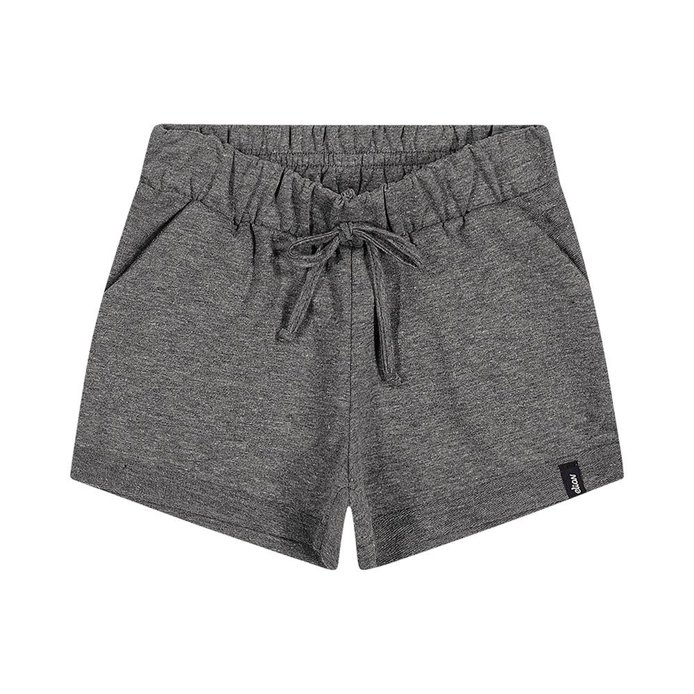 Shorts em Moletinho Chumbo