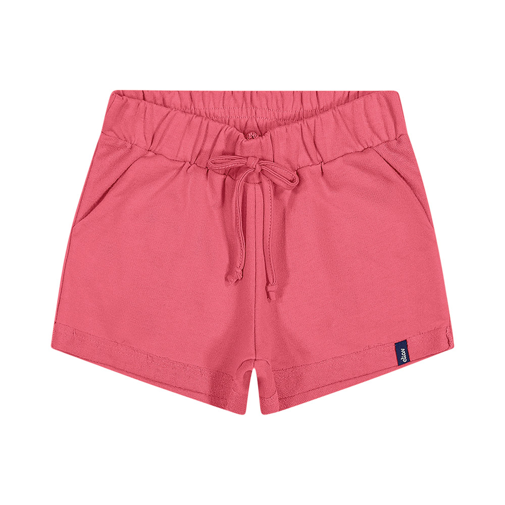 Shorts em Moletinho Rosa