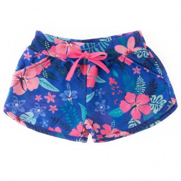 Shorts Floral Tropical Royal