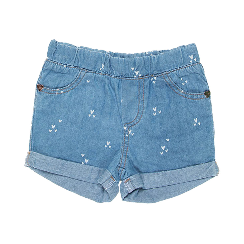 Shorts Jeans Corações Mania Kids