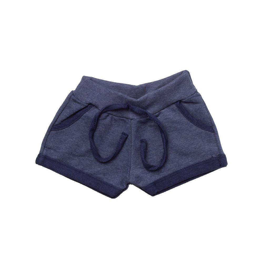 Shorts Moletinho Estonado Azul