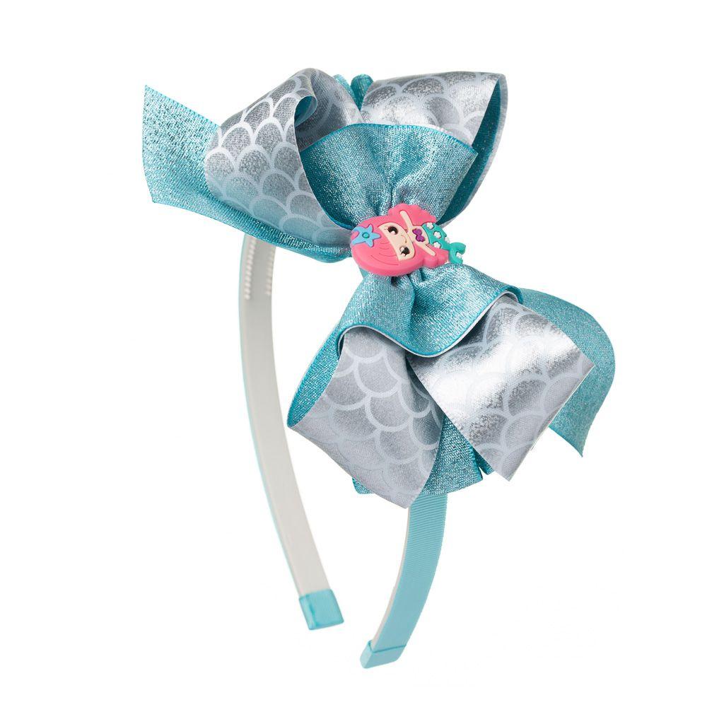 Tiara Sereia Glitter Azul
