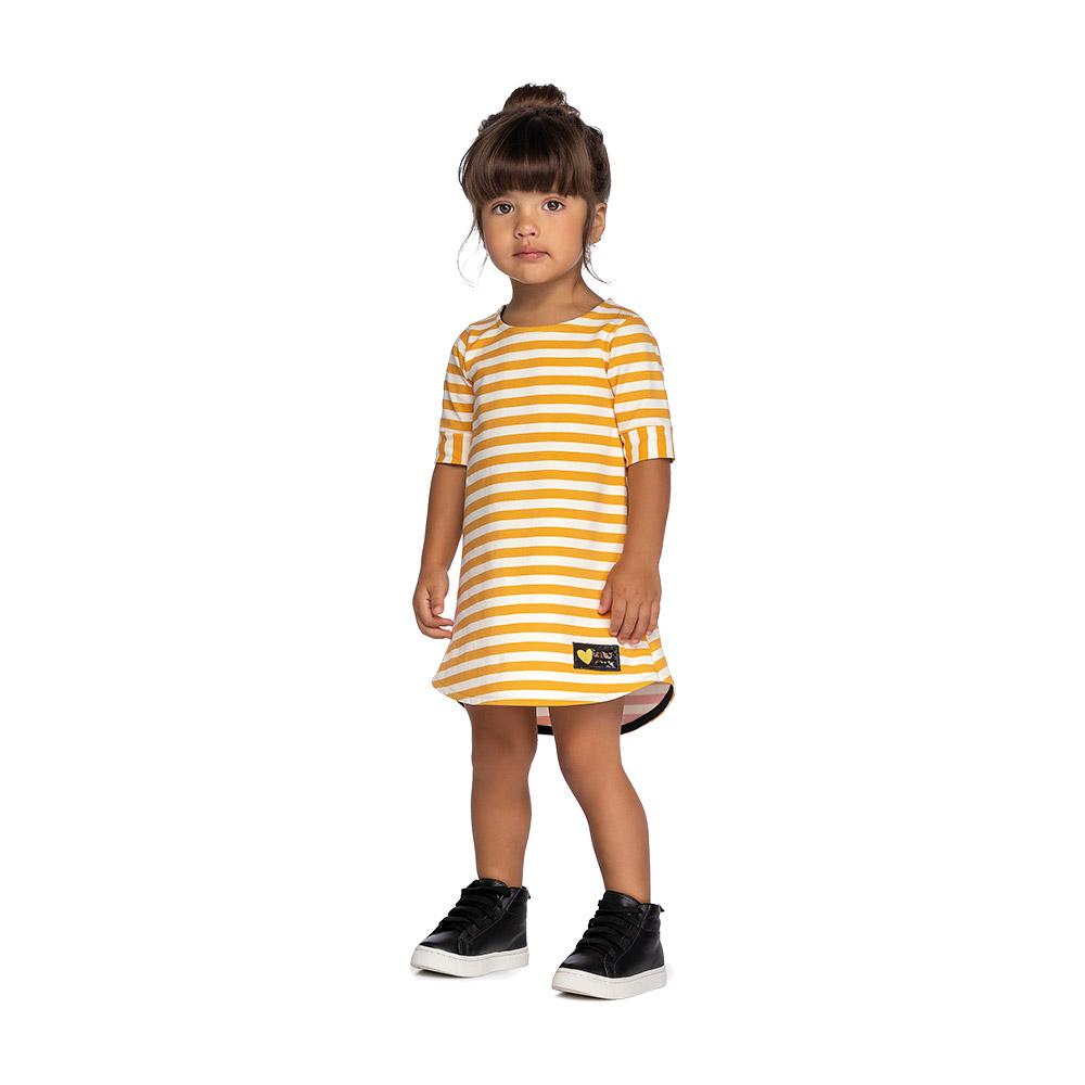 Vestido Listras Yellow Colorittá