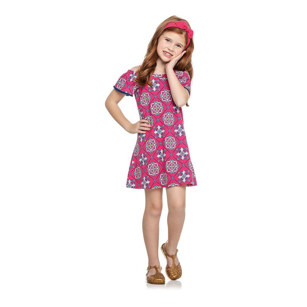Vestido Bandana Rosa
