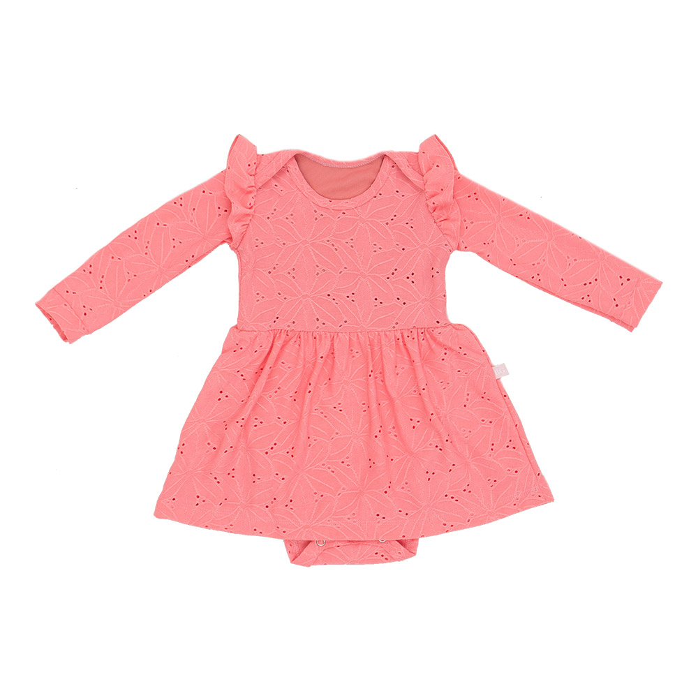 Vestido Body Em Laise Rosa Baby Gut