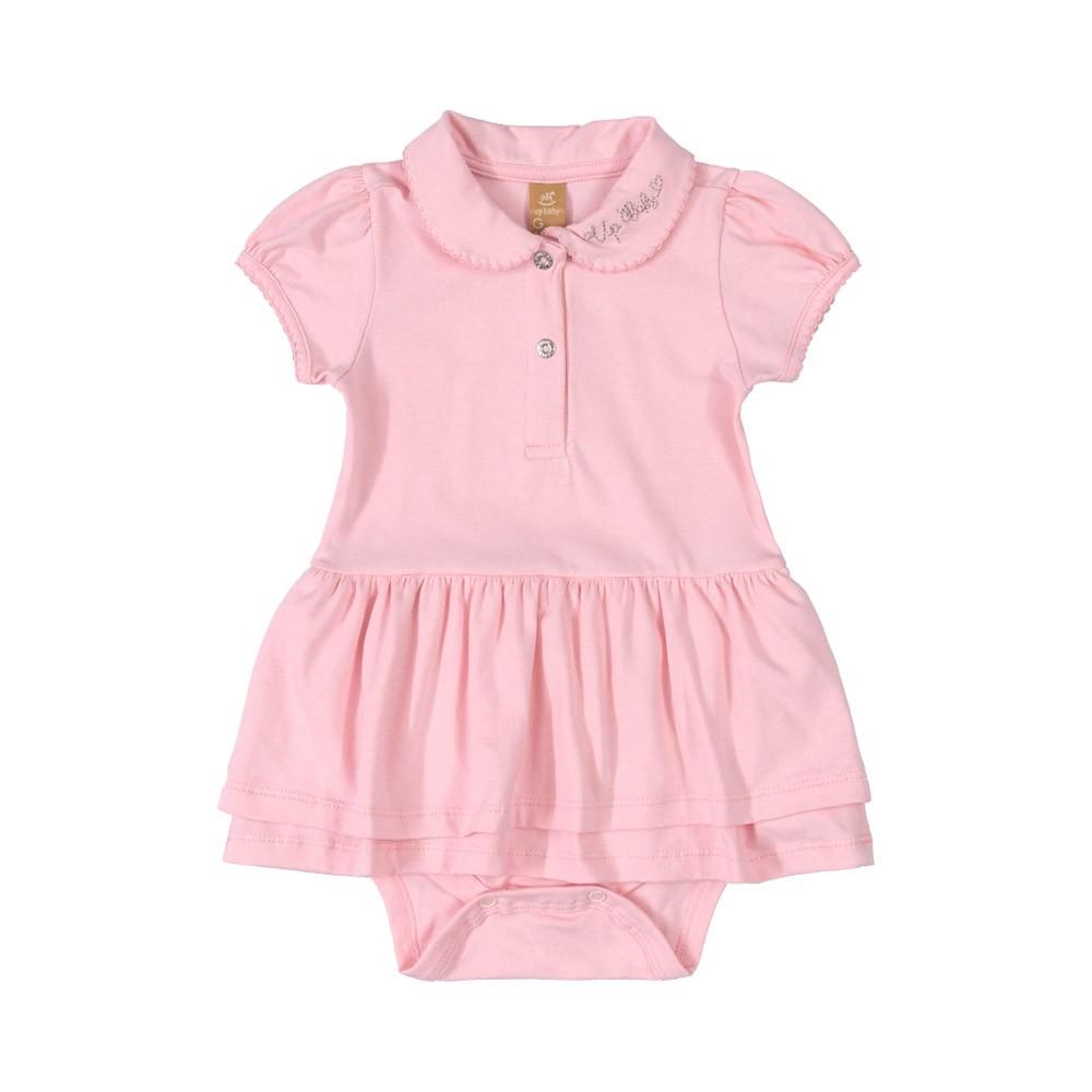 Vestido Body Pólo Up Baby Rosa