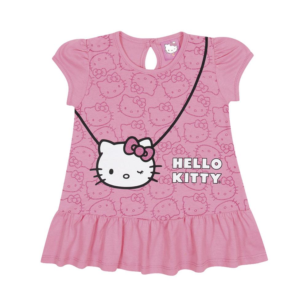 Vestido Bolsinha Hello Kitty Rosa - Produto Oficial