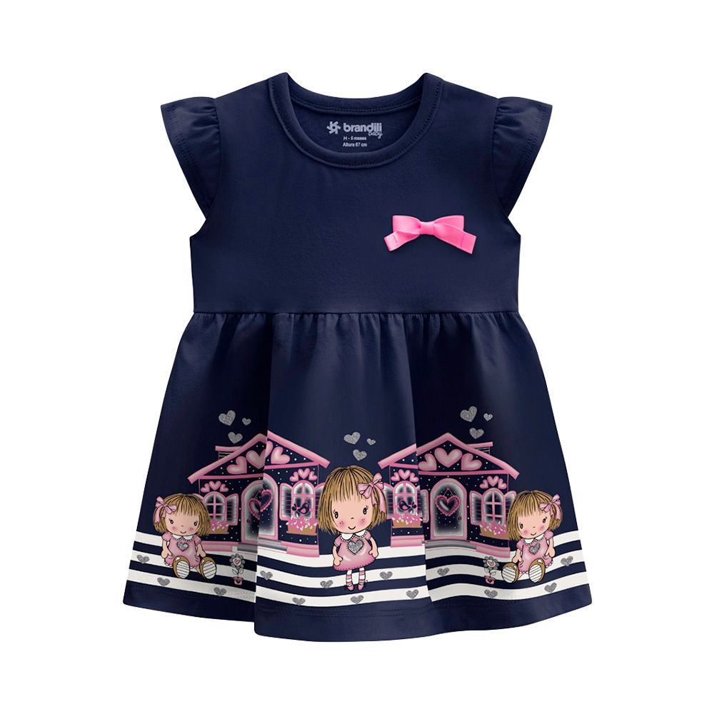 Vestido Boneca Marinho