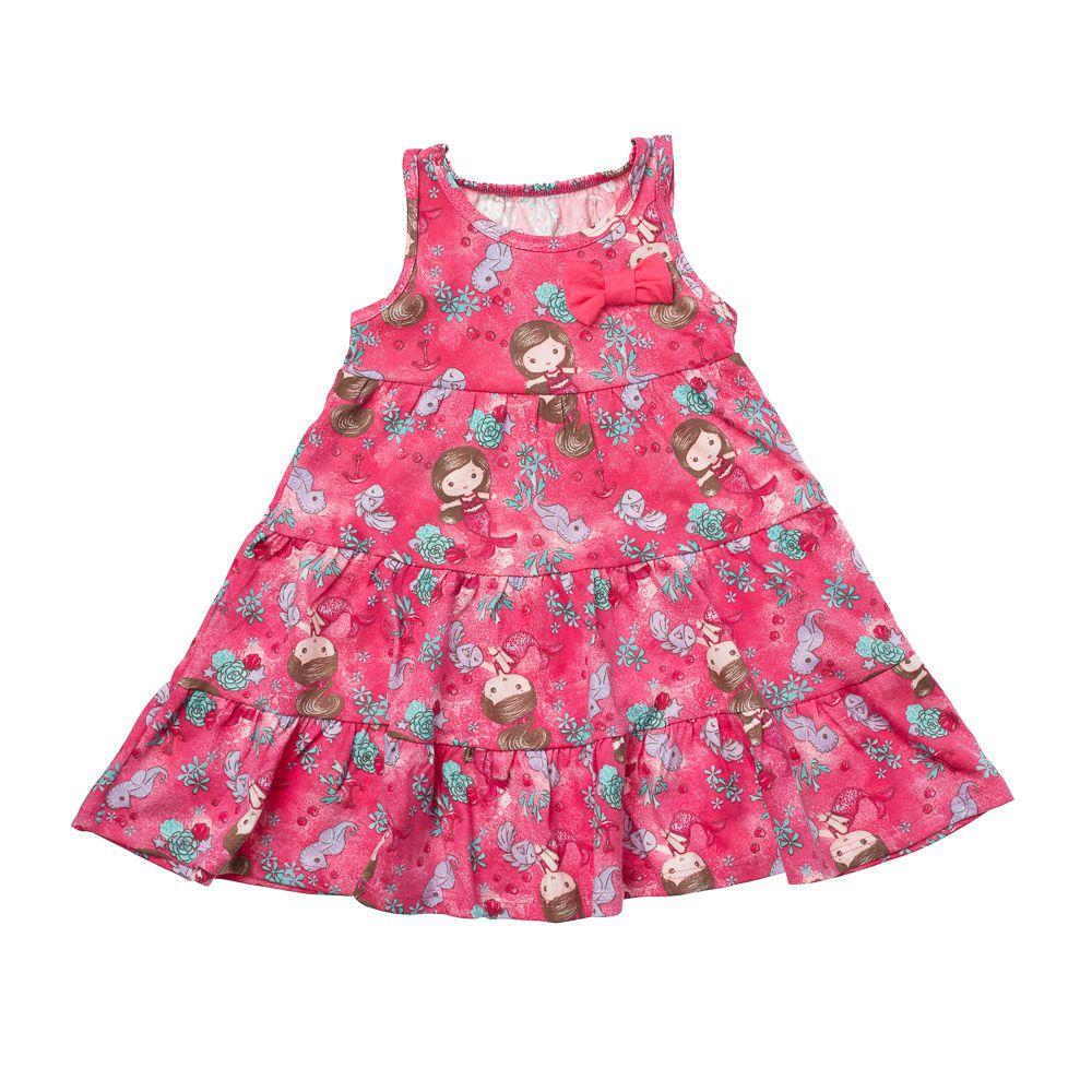 Vestido Sereias Rosa