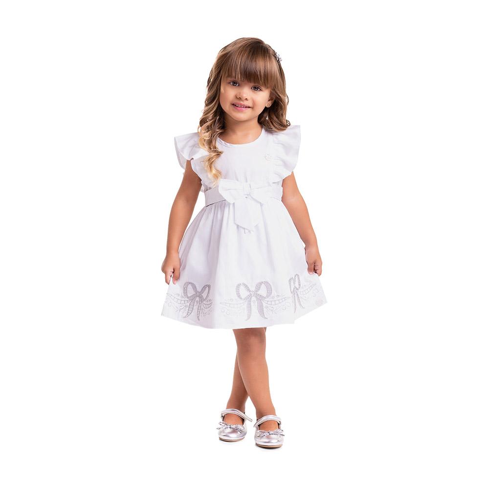 Vestido Bordado Laço Milon Branco