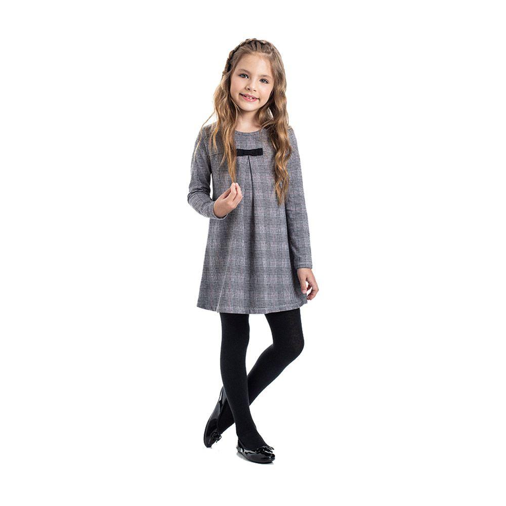 Vestido Charlote com Meia Calça de Algodão