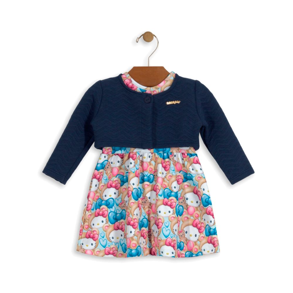 Vestido com Bolero Hello Kitty Azul