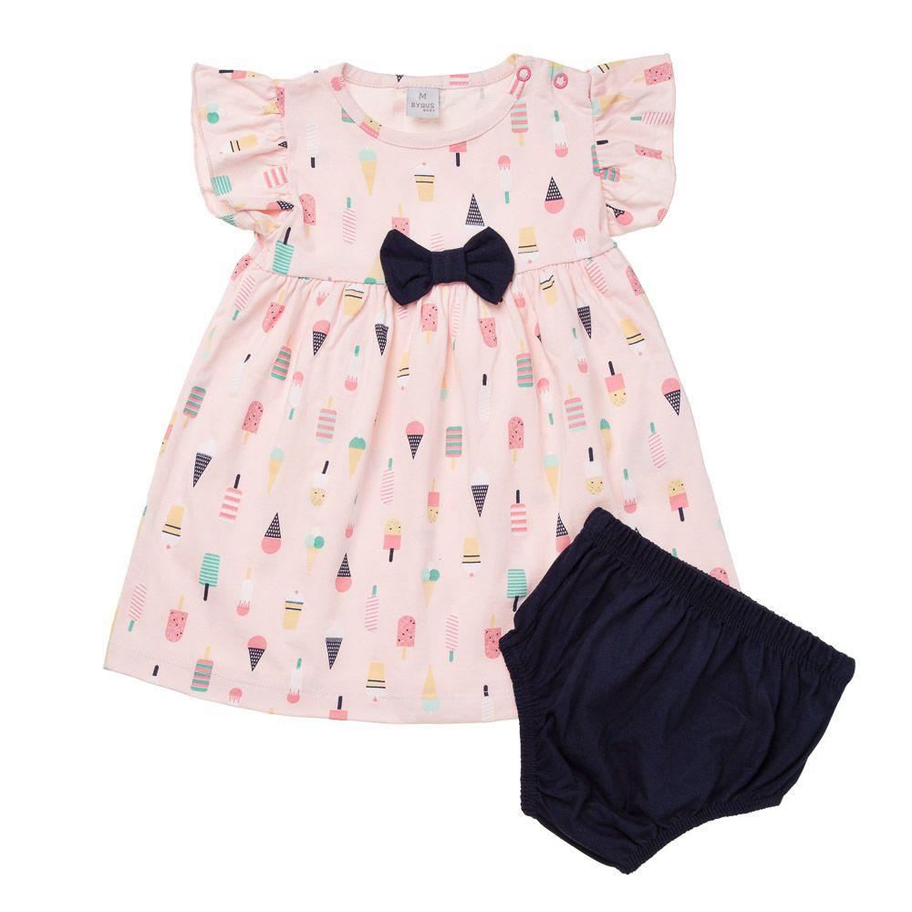 Vestido com Calcinha Picolé Rosa