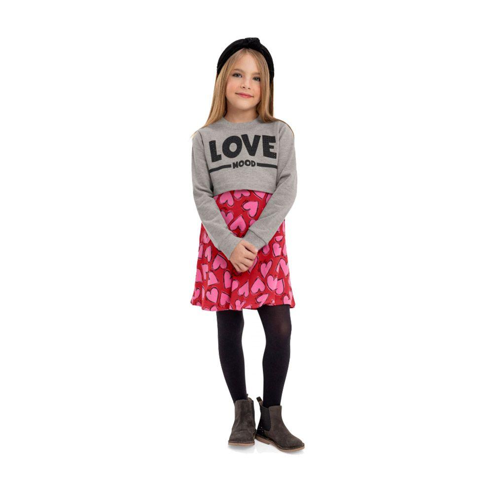 Vestido com Cropped Love Mood Vermelho