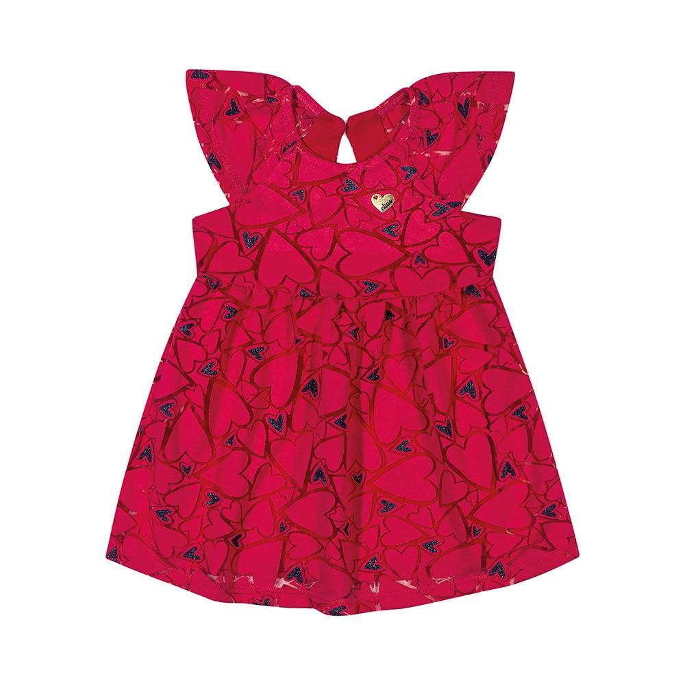 Vestido Corações Vermelho