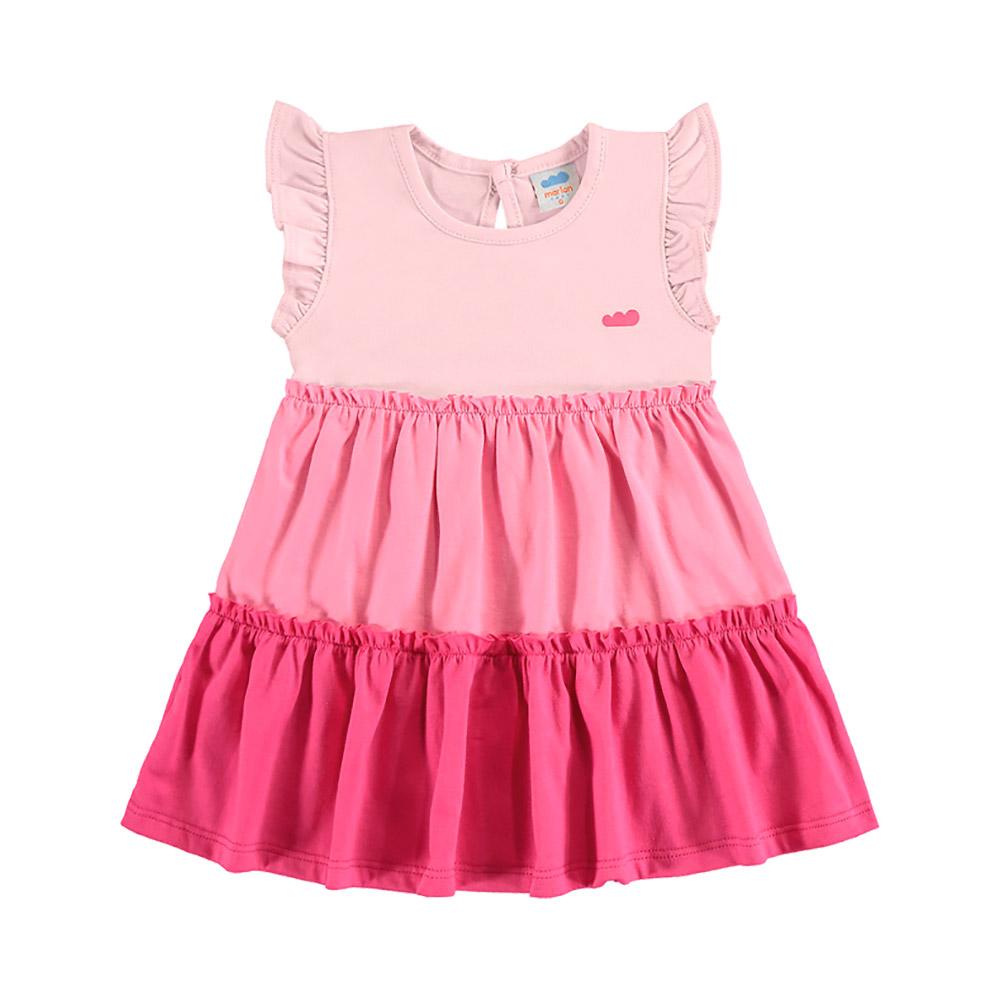 Vestido Cores Marlan Rosa